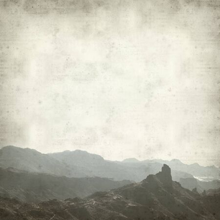 gran canaria: textured old paper background with landcape of Gran Canaria