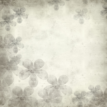 2d wallpaper: textured old paper background with stylized flower pattern