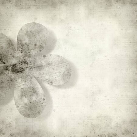 dry flower: textured old paper background with stylized flower pattern