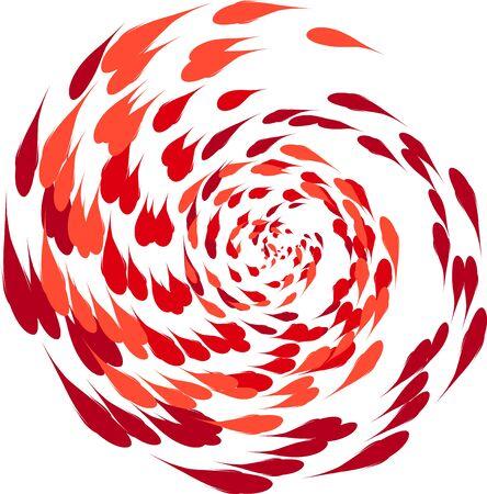 spiralling: spiralling koi carp illustration on white backgroud