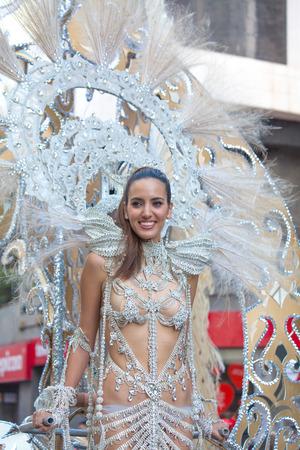 observer: LAS PALMAS - February 14: Carnival queen heads the main parade, February 14, 2015 in Las Palmas, Gran Canaria, Spain