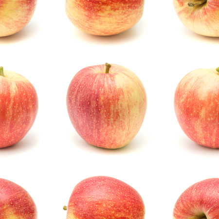repeatable: repeatable seamless apple on white background