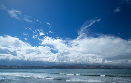 down beat: Gran Canaria, El Confital beach on the edge of Las Palmas, La Isleta peninsula, 24 October 2015, the day after big rains beat down on Canary islands