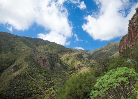 Gran Canaria, steep ravine Barranco de los Cernicalos, Kestrels Ravine Stock Photo