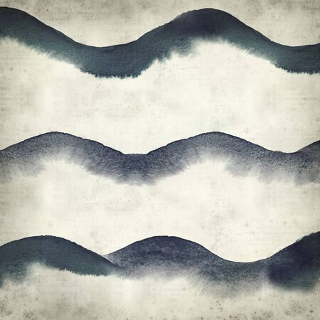 textured paper: textured old paper background with watercolor waves