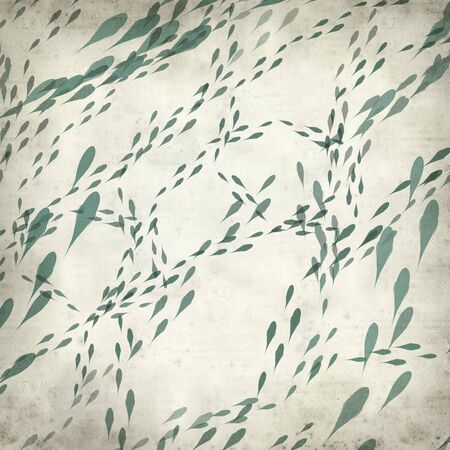 shoal: textured old paper background with swimming fish illustration