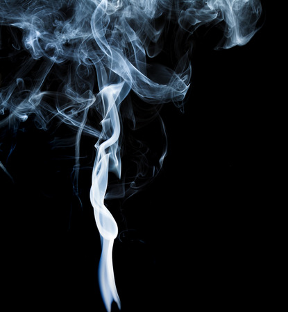 wisp: Wisp of smoke on black background