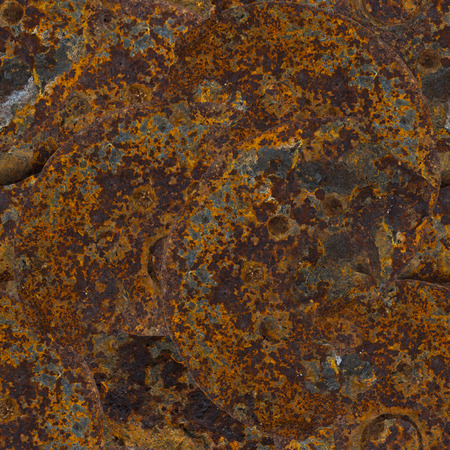 dystopia: seamless repeatable red and orange rust background
