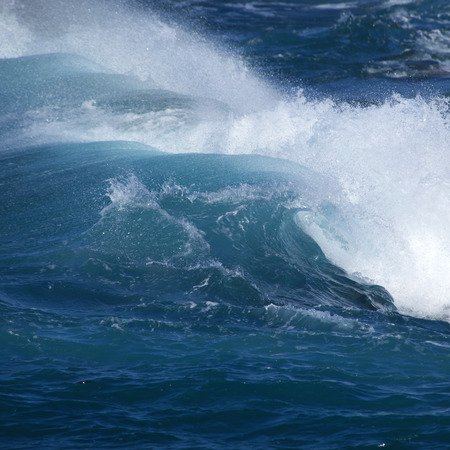 unstoppable: powerful ocean aves breakig by the shores of Gran Canaria