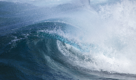 unstoppable: powerful ocean waves breakig by the shores of Gran Canaria Stock Photo