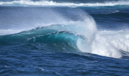 shores: powerful ocean waves breaking by the shores of Gran Canaria