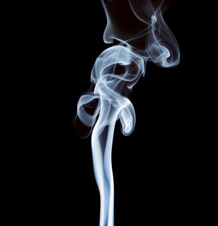 wisp: wisp of smoke on black background