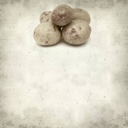 textured paper: textured old paper background with new potatoes