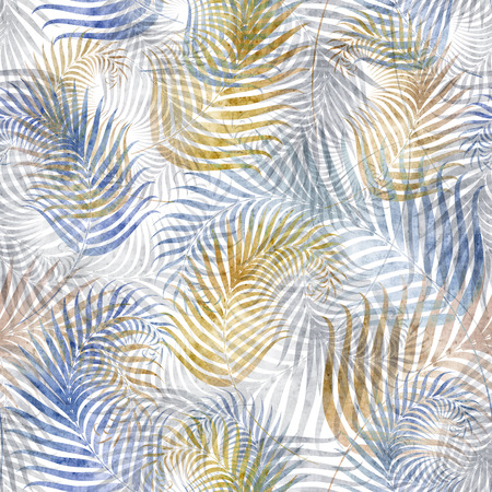 mould: seamless background with fern leaf pattern Stock Photo