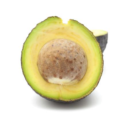 dark skinned: round dark skinned avocado pear isolated on white background Stock Photo