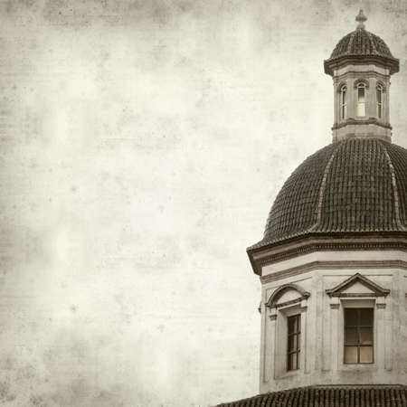 architectural details: textured old paper background with architectural details of Valencia, Spain