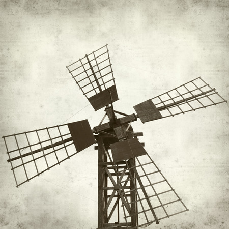 oliva: textured old paper background with windmills of Fuerteventura