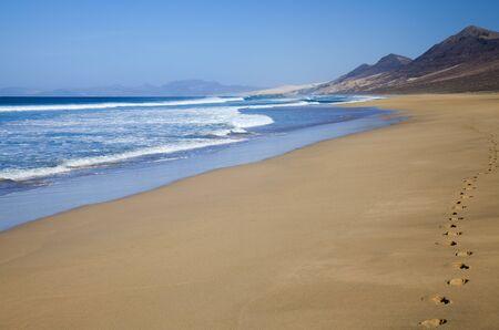 seep: Fuerteventura, Canary Islands,  wide seep of Cofete beach on Jandia Peninsula