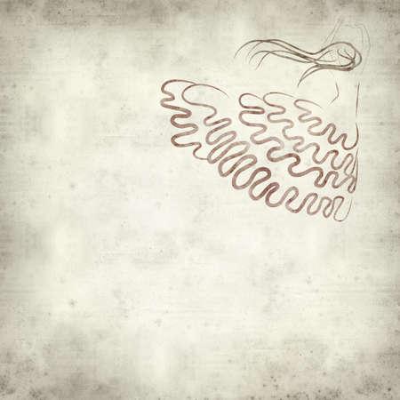 danseuse flamenco: texturé vieux fond de papier avec danseuse de flamenco illustration
