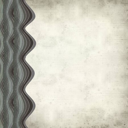 paper background: textured old paper background with waves illustration Stock Photo