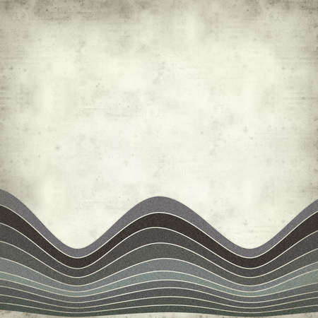 textured paper background: textured old paper background with waves illustration Stock Photo