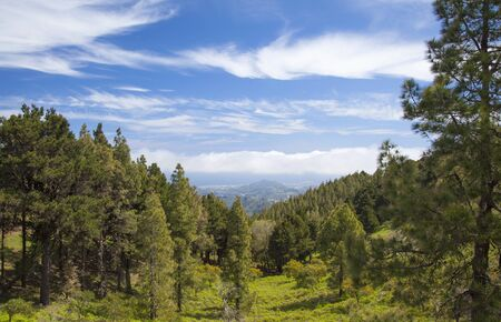 veiw: Gran Canaria, Veiw from Central Mountains towards North East Stock Photo