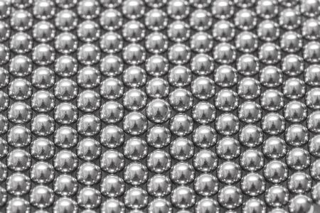 ball bearing: magnetic ball bearing tiling in perfect hexagonal grid Stock Photo