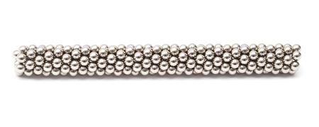 bearing: magnetic ball bearing cylinder isolated on white background