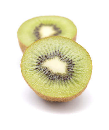 ripe kiwifruit  isolated on white background Stock Photo