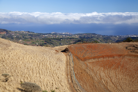 ravine: Central Gran Canaria, view north east over agricultural areas of the island