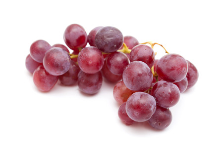 thiamine: clusters or purple grapes isolated on white background