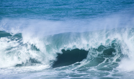 unstoppable: powerful ocean waves breaking natural water background Stock Photo