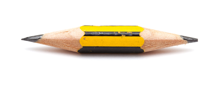 very: very short pencil sharpened on both ends isolated on white Stock Photo