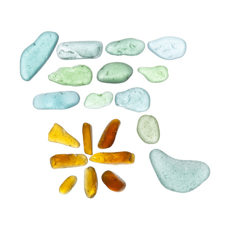 chinese characters made of sea glass, chi - air or life force