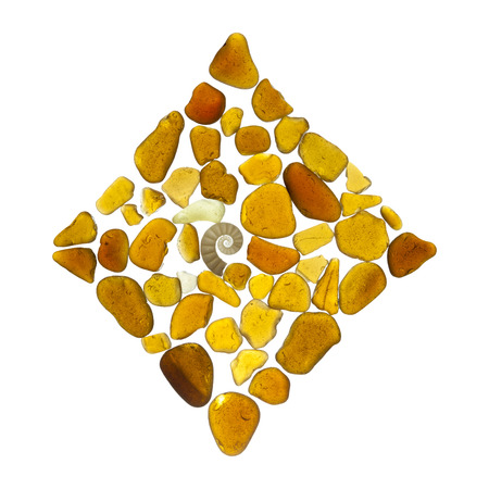 sea glass mosaic - diamonds card suit symbol isolated on white