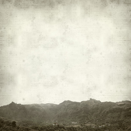 rock formation: textured old paper background with Gran Canaria Landscape