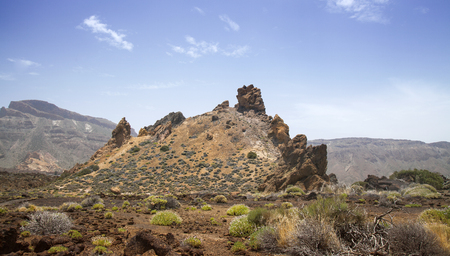 Canary Islands, Tenerife, Roques de Garcia rock formation within Teide National Park