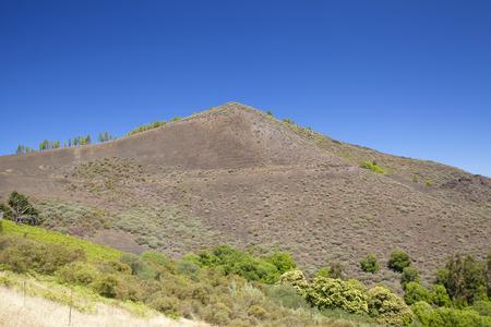 Gran Canaria,  July, central areas  landscape, volcanic cone of Montanon  Negro