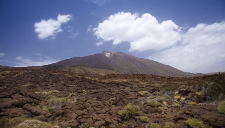 Canary Islands, Tenerife, view towards Teide from the south Stock Photo