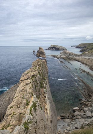 deposition: Cantabria, Costa Quebrada, amazing rock formations along the coastline