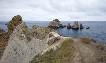 Cantabria, Costa Quebrada, rugged landscape around Liencres