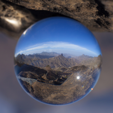 crystal ball photography - Caldera de Tejeda, Gran Canaria