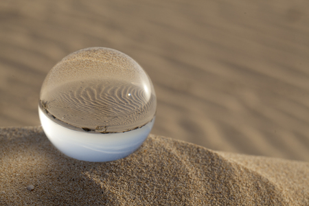 crystal ball photography - Dunes of Corralejo, Fuerteventura, Canary Islands