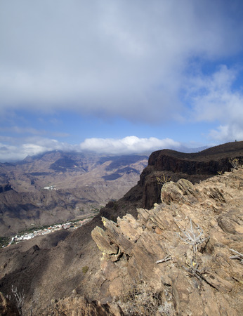 Gran Canaria, November, view downwards into Valley Barrano de Mogan