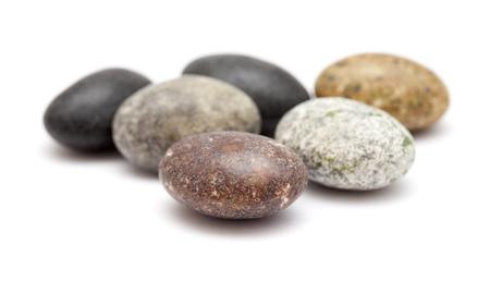 hard candy pebbles isolated on white background Stock Photo