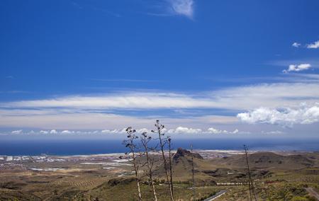 Gran Canaria, May, hiking route Temisas - Aguimes,view towards ocean