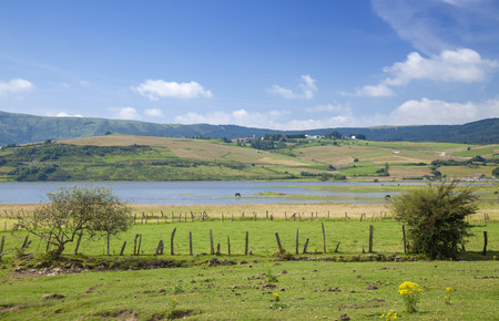 Cantabria, landscapes around Reinosa municipality, Ebro reservoir Standard-Bild