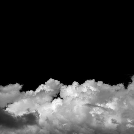 natural cumulus clouds backgroud with towering cumulus, monochrome Foto de archivo