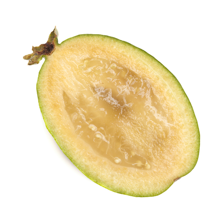 feijoa or pineapple guava isolated on white background