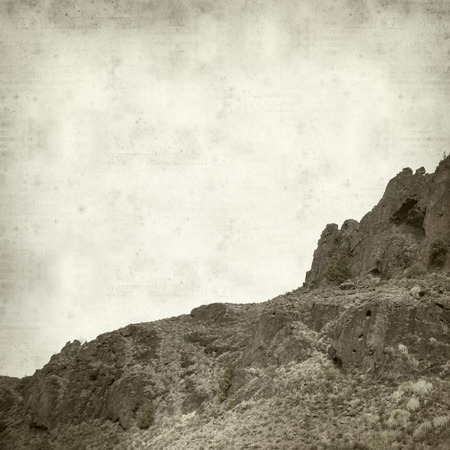 textured old paper background with Gran Canaria landscape in nature park  Tamadaba